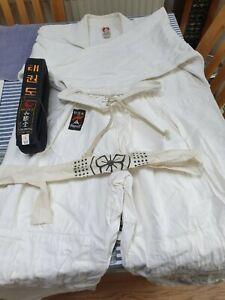genuine Judo Karate Martial Arts Suit with Black Belt /Karate Kid  Fancy Dress