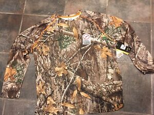 REALTREE 2XL Long Sleeve Flex Raglan Performance T-Shirt w Insect Repellent