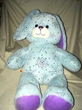 "Build A Bear Sparkle Snowflake Bunny Rabbit 17"" Blue Purple Plush B41"