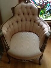 Victorian Pristine Chair Perfect.. No stains.. Dainty/yet Sturdy Peachy/Pink.