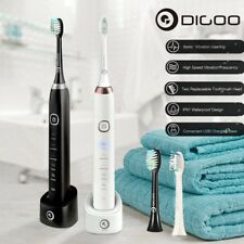 Digoo 5 Brush Mode Essence Sonic Electric Rechargeable Toothbrush Timer + 2 Head