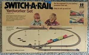 Vintage Tomy Switch-a-Rail Yardworker Plastic Train Set 1975 Parts and Pieces