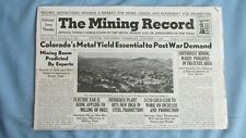 New listing 1944 Mining Record-Colorado Vanadium-Lead South Dakota Gold Mines-Bauxite Mines