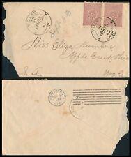 LEBANON - SAIDA 1900, OTTOMAN SCARCE COVER TO OHIO - U.S.A.  #Z877