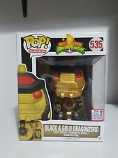 Pop! Funko Power Ranger - Dragonzord  Black Gold Ex Fall convention  exclusive