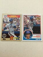 DARRYL STRAWBERRY New York Mets Lot (2) Topps New Era SP Promo Cards 2017 & 2018