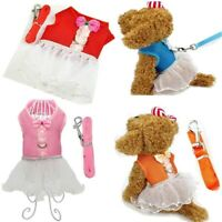 Soft Mesh Pet Harness Safety Walk Vest Lesh Small Dog Cat Tutu Princess Dress