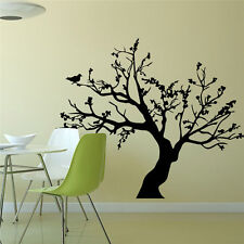 DIY Removable Flower Tree Wall Sticker Decal Home Room Decor Art Vinyl Black New