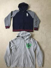 Lot of 2 Polo Ralph Lauren Boys Hoodie Sweatshirt XL(18-20) & XL Navy Gray #1v