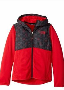The North Face Kickin It Hoodie Jacket (Size M) Full Zip Red Black UPF 50