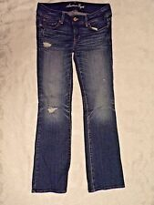 American Eagle Stretch Slim Boot Low Rise Blue Jean Size 6 Regular
