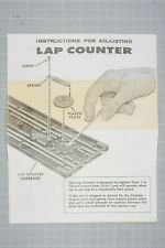Vintage Aurora Model Motoring 1964 LAP COUNTER and CRISCROSS  INSTRUCTIONS.