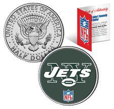 NEW YORK JETS NFL JFK Kennedy Half Dollar US Coin  *Officially Licensed*