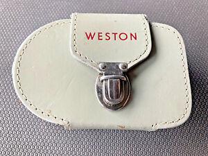 Weston Master V Light Meter - Model 748 & Leather Case - Vintage