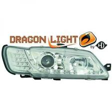 Scheinwerfer Set für Peugeot 306 1997-2000 Klarglas/Chrom LED Dragon Lights