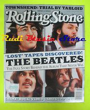 ROLLING STONE USA MAGAZINE 916/2003 Beatles Tom Morello Jeff Tweedy  No cd