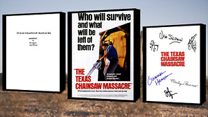 The Texas Chain Saw Massacre Script/Screenplay Movie Poster Autographs Print