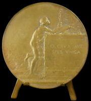 Medal Mantis c1940 Redemption Saint Jean the Blank, Dupré Religious Medal