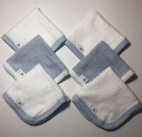 Burts Bees Baby 100% Organic Cotton Washcloths ~ Set of 12 ~ Sky Blue  9 x 9