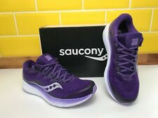 Saucony Ride ISO 2 Womens UK 6.5 Running Shoes Sports Trainers Violet