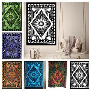 Wall Hanging Mandala Poster Tapestry Zodiac Horoscope Cotton Astrology Art Dorm