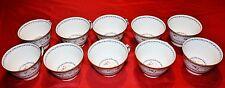 BERNARDAUD ARTOIS BLEU TEA CUPS - SET of 10 NEW