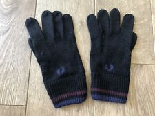 Fred Perry Men's Large Black Gloves