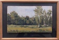 Albert BRUN 1887-c.1950.Paysage.Huile/panneau.Monogrammé en bas à gauche.14x23.