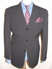MENS LUXURY  BEN SHERMAN  DARK GREY  PINSTRIPE SUIT 42S (52S EUR) W36 X L29