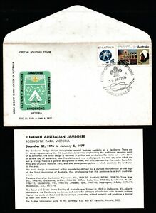 1976/7 11th AUSTRALIAN SCOUT JAMBOREE DECIMAL STAMP OFFICIAL SOUVENIR COVER #O15