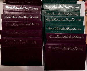 COMPLETE RUN US MINT CLAD PROOF SETS DATED 1968 TO 1998     31 ORIGINAL SETS