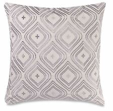 Make-Your-Own-Pillow Abanico Square Throw Pillow Cover in Silver