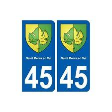 45 Saint-Denis-en-Val blason ville autocollant plaque stickers droits