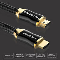 3FT 4K HDMI Cable 2.0 For PS4 Xbox One 360 Apple TV HDTV LCD Monitor 3D HDCP 2.2