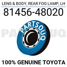8145648020 Genuine Toyota LENS & BODY, REAR FOG LAMP, LH 81456-48020