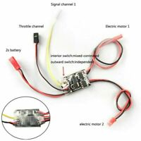 1.8AX2 ESC Brushed Dual Way Bidirectional Speed Controller for RC Small Tank BUS