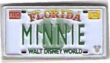 MINNIE Mouse FLORIDA LICENSE PLATE HIDDEN MICKEY 2006 WDW DISNEY PIN