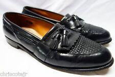 ALLEN EDMONDS Cody Black Leather Woven Kiltie Tassel LOAFER Shoe 13 B Narrow USA