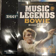 David Bowie 'Ziggys Last Floor Show Clear Vinyl LP + Magazine ! - New and Sealed