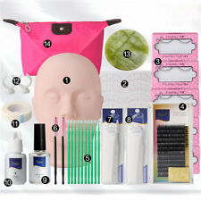 14in1 Mannequin Training Makeup False Eyelashes Extension Glue Tool Practice Kit