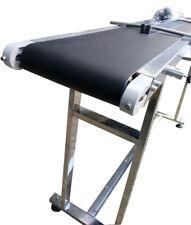 110V Conveyor Belts 59''x 7.8'' Powered Rubber PVC Belt Double Guardrail