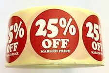 25% off PRICE LABELS  RETAIL STICKERS 35mm