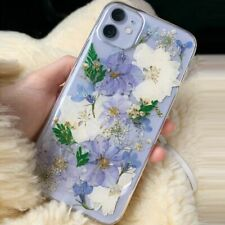 Real Dried Pressed Flowers Phone Cases For iPhone 11 ProMax Silicone Floral Case