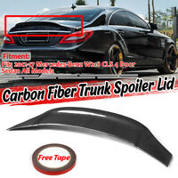 For Mercedes W218 CLS63 AMG Sedan 2012-2017 Rear Trunk Spoiler Wing Carbon Fiber