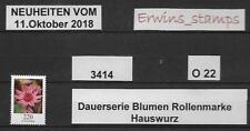 O22 BRD 11.Oktober 2018 Mi.-Nr.: 3414 HAUSWURZ von der Rolle ohne Nummer