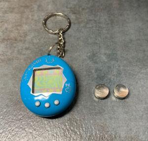 Bandai Original TamaGotchi Blue w/White Letters 1997 English New Battery Tested
