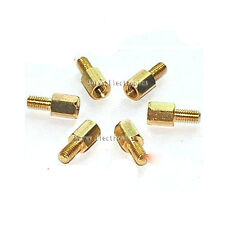 25pcs New Brass Hex Stand-Off Pillars Male to Female 6mm + 6mm M3 Good Quality
