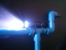 Blue Marshmallow PVC Shooter w/ LCD Flashlight Shoots Mini Mallows