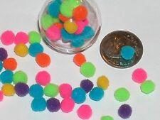 20pc tiny Bright Rainbow pom pom puffs Miniature for glass rice writing bottles