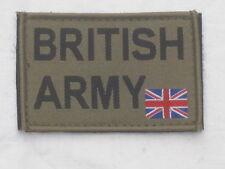 BRITISH ARMY & Union Jack 50x80mm, oliv,Klettverschluß,Armabzeichen,Patch,MTP